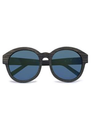 3.1 Phillip Lim Woman Round-frame Wooden Sunglasses Green Size -