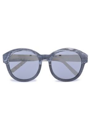3.1 Phillip Lim Woman Round-frame Silver-tone And Wooden Sunglasses Charcoal Size -