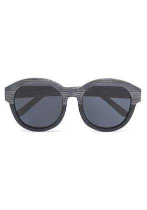 3.1 Phillip Lim Woman Round-frame Wood Sunglasses Black Size -