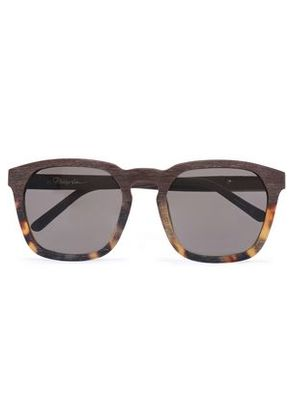 3.1 Phillip Lim Woman D-frame Tortoishell Acetate And Wooden Sunglasses Brown Size -