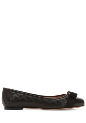 VARINA QUILTED LEATHER BALLERINA FLATS