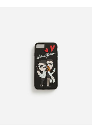 Dolce & Gabbana Hi-Tech Accessories - RUBBER IPHONE 7/8 COVER WITH THE DESIGNERS MULTICOLOR