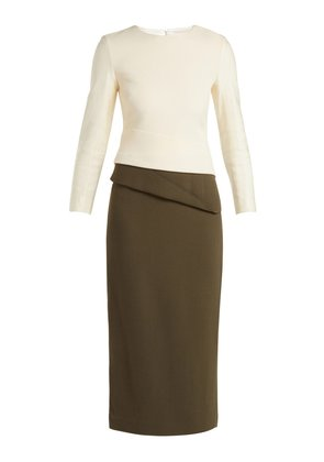 Dunaway wool-crepe pencil dress