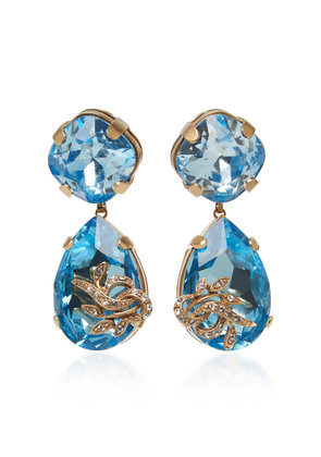 Dolce & Gabbana Orecchini Strass Brass And Crystal Drop Earrings