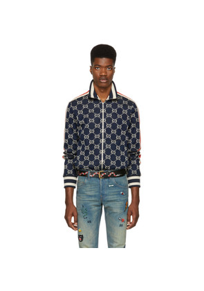 Gucci Navy & Off-White GG Track Jacket