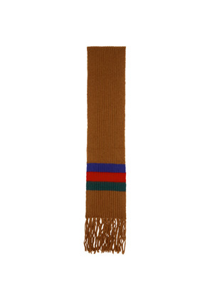 Gucci Brown Striped Scarf