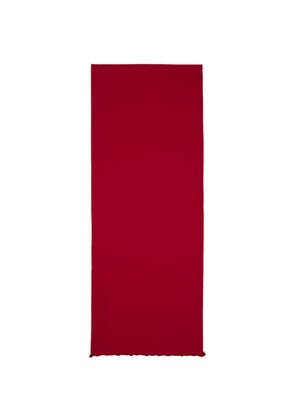 Gucci Red & Brown Ripon Simple Scarf