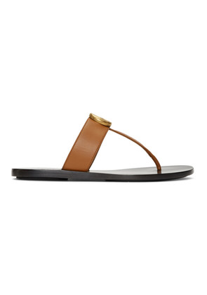 Gucci Tan Marmont Sandals