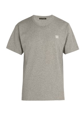 Nash Face-embroidered cotton-jersey T-shirt