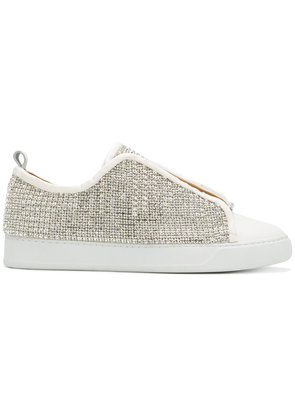 Black Dioniso crystal sneakers - White