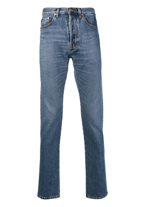 Valentino washed slim fit jeans - Blue