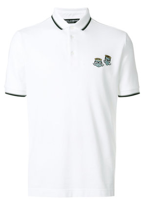 Dolce & Gabbana designers patch polo shirt - White