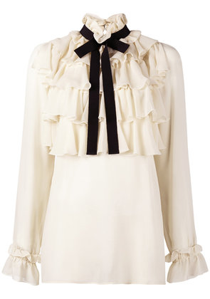 Gucci ruffle pussy bow shirt - Nude & Neutrals