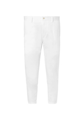 Slim-fit Tapered Cropped Stretch-cotton Gabardine Trousers