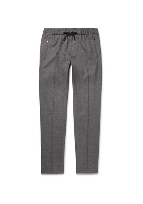 Tapered Stretch Wool And Cotton-blend Drawstring Trousers