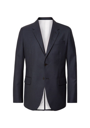 Navy Puppytooth Wool Suit Jacket