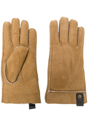 Ugg Australia leather trim gloves - Brown