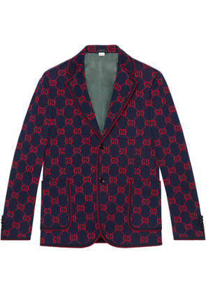 Gucci GG jersey formal jacket - Blue
