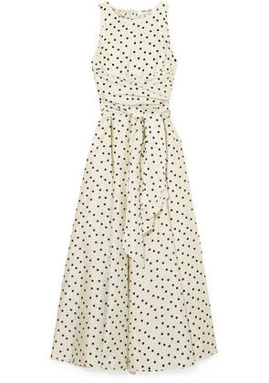 Diane von Furstenberg - Polka-dot Silk Maxi Dress - Cream