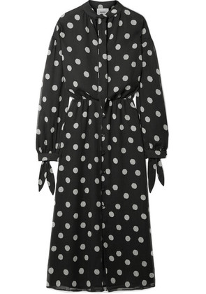 Nanushka - Zahara Polka-dot Chiffon Dress - Black