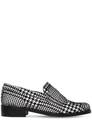 30MM PRINCE OF WALES VELVET LOAFERS