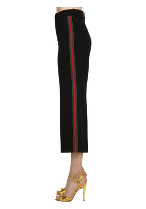 CREPE PANTS WITH SIDE WEB BANDS