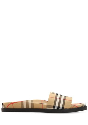 VINTAGE CHECK PRINTED SLIDE SANDALS