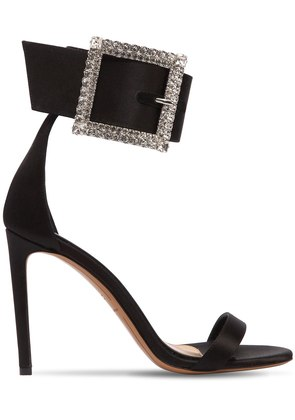 100MM YASMIN SWAROVSKI SATIN SANDALS