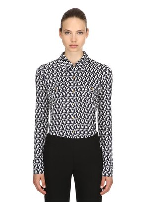 T PRINTED VISCOSE & SILK SHIRT