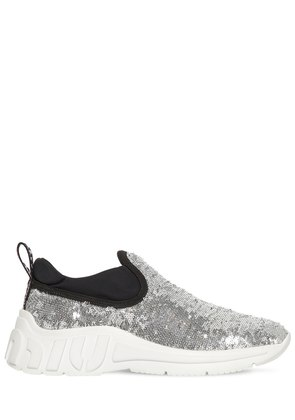10MM SEQUINED SLIP-ON SNEAKERS