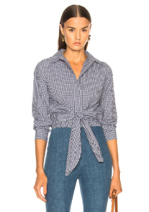 Rag & Bone Wendy Top in Blue,Checkered & Plaid