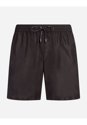 Dolce & Gabbana Beachwear - LONG SWIMMING TRUNKS BLACK