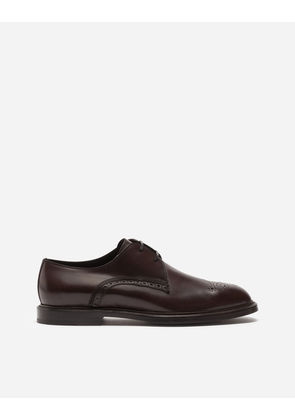 Dolce & Gabbana Lace-Ups - POLISHED CALFSKIN DERBY SHOES BROWN