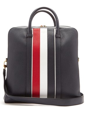 Tricolour leather bag