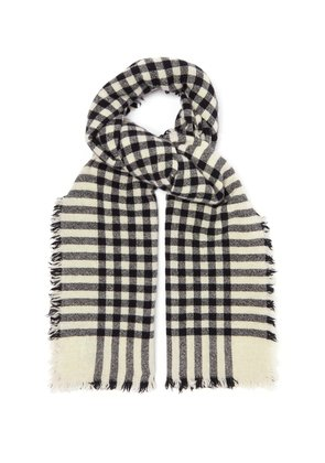 Beaufort Washed checked scarf