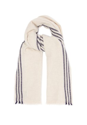 Beauford Washed wool-blend scarf