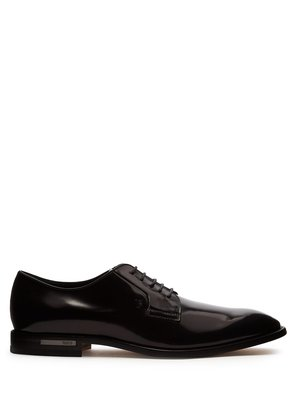 High-shine leather derby shoes