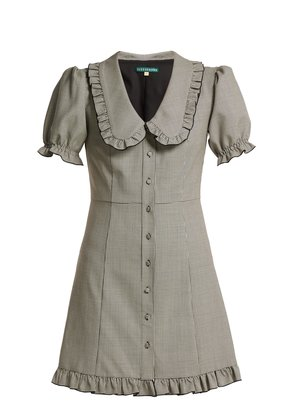 Puritan-collar babydoll dress