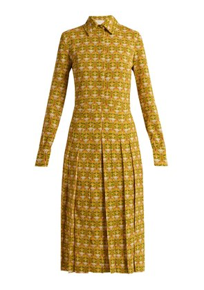 Chemisier Libellule-print pleated shirtdress