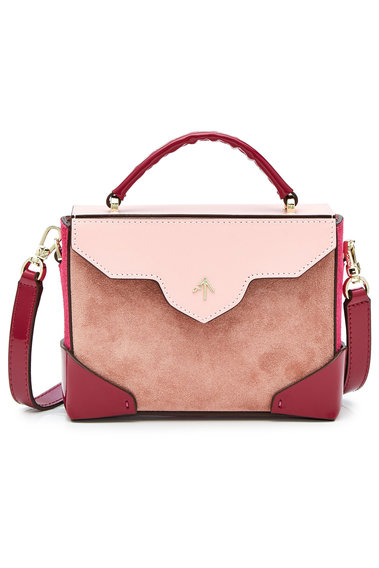 f6216f3ba0 Manu Atelier Micro Bold Leather and Suede Shoulder Bag