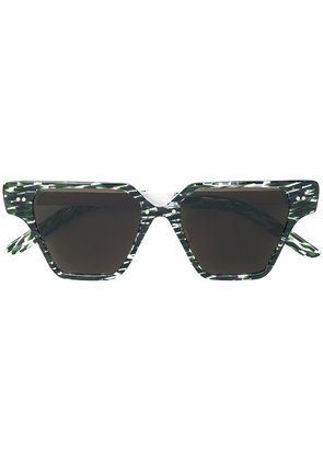 Delirious patterned square sunglasses - Green
