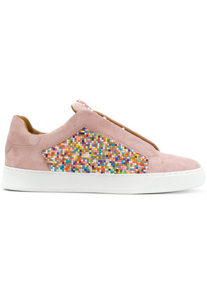 Black Dioniso multicolour coated sneakers - Pink