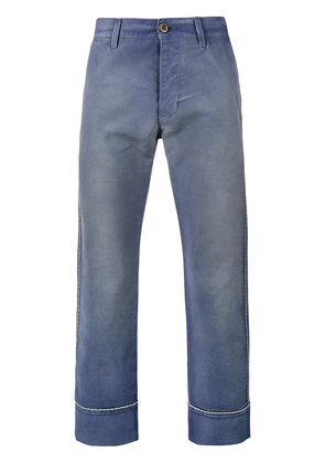 Gucci cropped work trousers - Blue