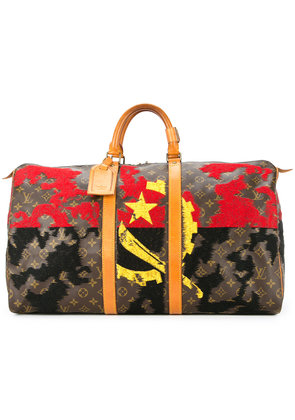 Jay Ahr sickle and hammer embroidered vintage Louis Vuitton keepall -