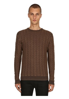 WAVED WOOL JACQUARD SWEATER