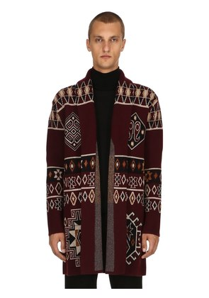 CARPET RIDE WOOL JACQUARD COAT