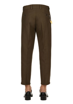 20CM DOUBLE TWISTED COTTON CHINO PANTS