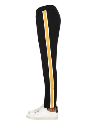 TECHNO TRACK PANTS W/ SIDE BANDS