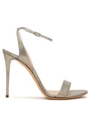 Casadei Woman Metallic Cracked-leather Sandals Mint Size 39 Choice For Sale Largest Supplier Cheap Price Discount Fake ryc59BNpd