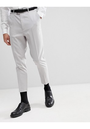 ASOS Tapered Suit Trousers In Ice Grey - Ice grey